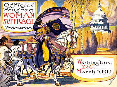Suffrage Painting - Woman Suffrage Procession by Pg Reproductions