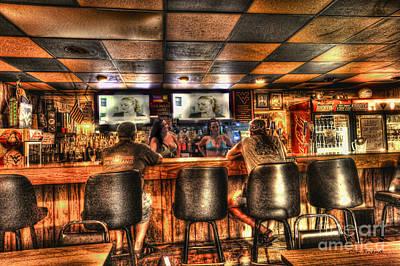 Photograph - Woman Talking To Men In Bar by Dan Friend