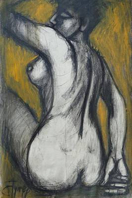 Woman Turning Her Back 2- Female Nude Art Print