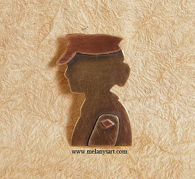 Jewelry - Woman Veteran Brooch by Melany Sarafis