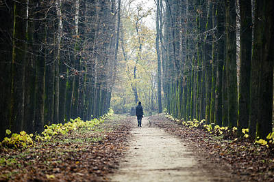 Photograph - Woman Walking In The Park by Alfio Finocchiaro