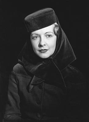 Photograph - Woman Wearing A Hat by Underwood Archives