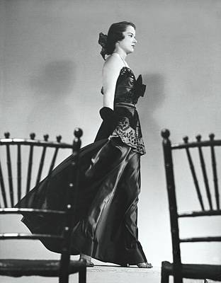 Midwest Photograph - Woman Wearing An Evening Gown by John Rawlings
