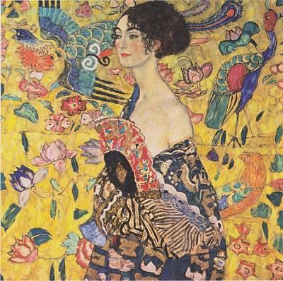 Klimt Digital Art - Woman With A Fan by Georgia Fowler