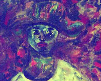 Painting - Woman With A Hat by Shea Holliman