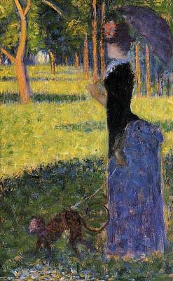 Pointilist Painting - Woman With A Parasol by Georges Seurat