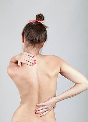 Back Injury Photograph - Woman With Back Pain by Photostock-israel