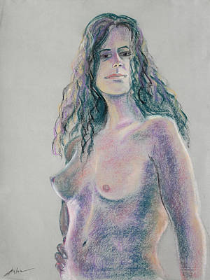 Woman With Hand On Her Hip Art Print