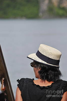 Photograph - Woman With Hat Looking Away by Sami Sarkis