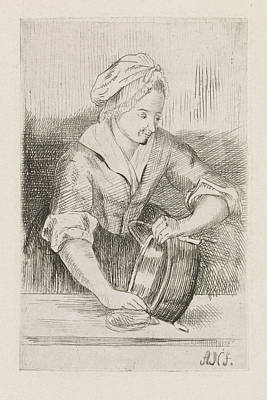 Boiler Painting - Woman With Kettle, Anna Ccile Wilhelmina Jeanette by Litz Collection