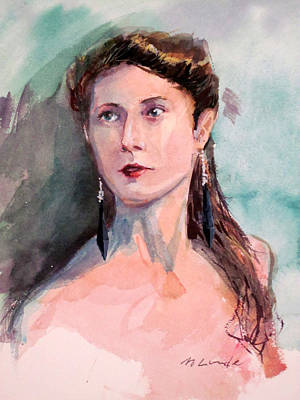 Painting - Woman With Onyx Earrings by Mark Lunde