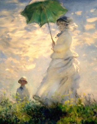 Impressionistic Landscape Mixed Media - Woman With Parasol Dedication by Georgiana Romanovna