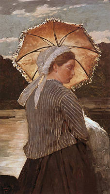 Nautical Painting - Woman With Parasol by Celestial Images