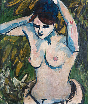 Woman With Raised Arms Art Print by Ernst Ludwig Kirchner