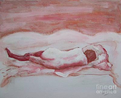 Nu Painting - Woman With Silk Stockings by Pierre Robillard