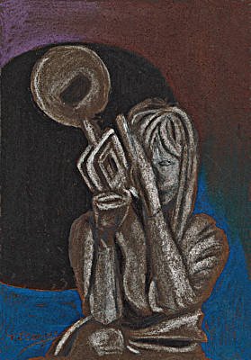 Painting - Woman With Trumpet by Tom Conway