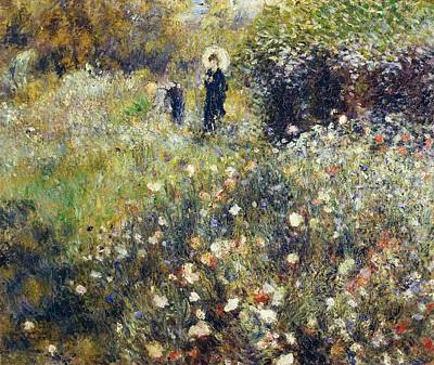 Fixing Painting - Woman With Umbrella In Garden by Pierre-Auguste Renoir