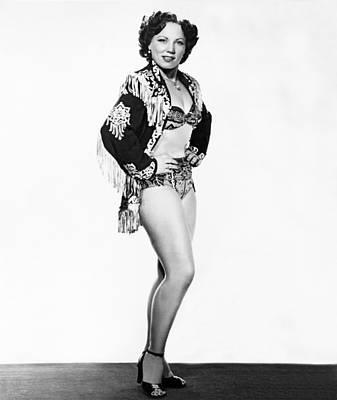 Fringe Jacket Photograph - Woman Wrestling Champion by Underwood Archives