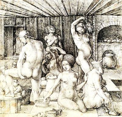 Drawing - Woman's Bath by PG Reproductions