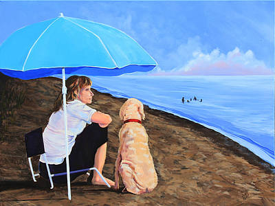 Landscape Painting - Woman's Best Friend by Kevin Doty