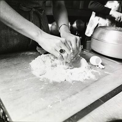 Teaching Photograph - Woman's Hands Mixing Dough by Ernst Beadle