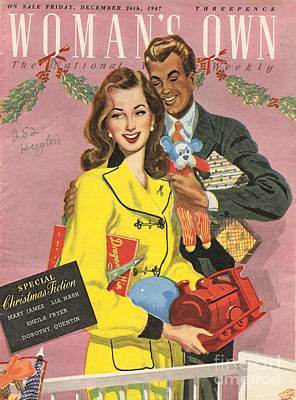 Nineteen Forties Drawing - Womans Own 1940s Uk Presents Gifts by The Advertising Archives