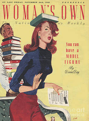 WomanÕs Own 1948 1940s Uk Models Print by The Advertising Archives