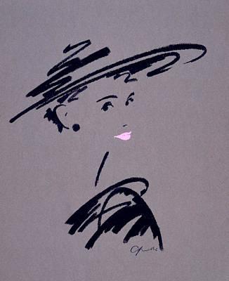 Charcoal Photograph - Womans Portrait by Giannelli