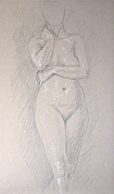 Woman's Torso Art Print by Deborah Dendler
