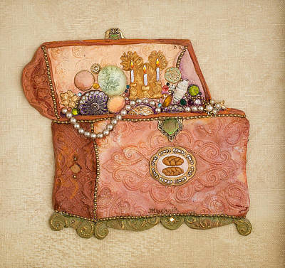 Tablet Painting - Womans Treasures by Michoel Muchnik