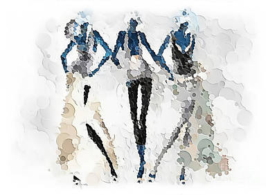 Digital Art - Women 501-11-13 Marucii by Marek Lutek