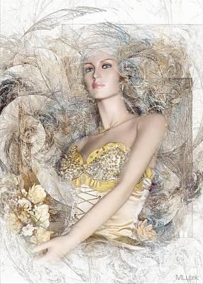 Digital Art - Women 550-11-13 Marucii  by Marek Lutek