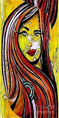 Digital Art - Women 576-11-13 Marucii by Marek Lutek
