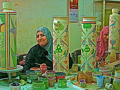 Madaba Photograph - Women Artisans At Mosaic School In Madaba-jordan by Ruth Hager