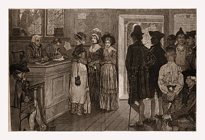 Women At The Polls In New Jersey In The Good Old Art Print by Litz Collection