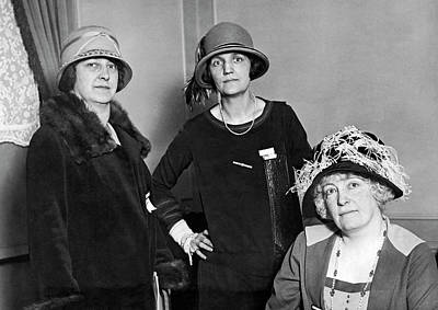 Photograph - Women Bankers by Underwood Archives