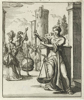 Contemplate Drawing - Women Contemplating An Orb, Globus Cruciger Is An Orb by Litz Collection