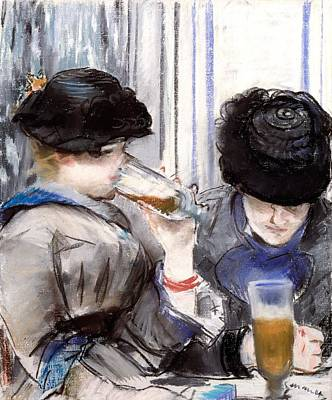 Beer Drawing - Women Drinking Beer, 1878 by Edouard Manet