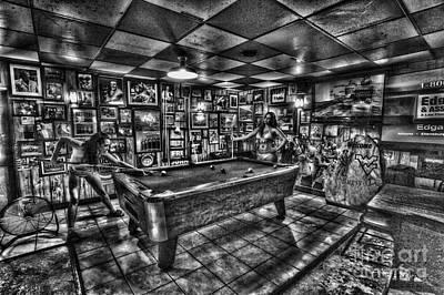 Photograph - Women In Bar Playing Pool by Dan Friend