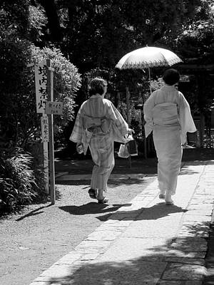 Photograph - Women In Kimono by Larry Knipfing