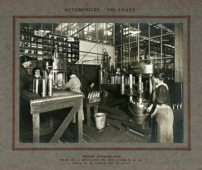 Factory Photograph - Women In Munitions Factory by Science, Industry And Business Library/new York Public Library