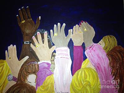 Painting - Women In Prayer by Michelle Bentham