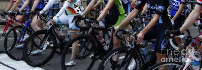 Bike Races Photograph - Women In Waiting by Steven Digman
