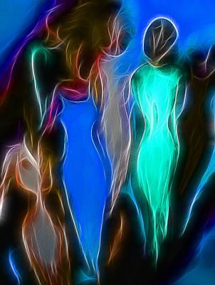 Feminine Mixed Media - Women by Joachim G Pinkawa