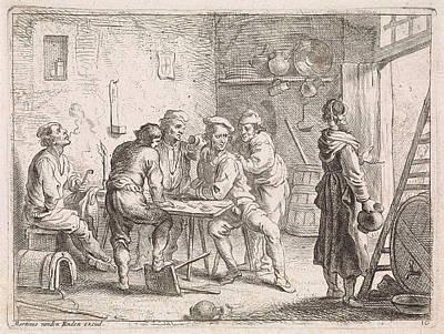 Women Leave Inn, Cornelis De Wael, Martinus Van Den Enden Art Print