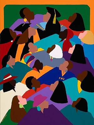 Multicultural Painting - Women Lifting Their Voices by Synthia SAINT JAMES