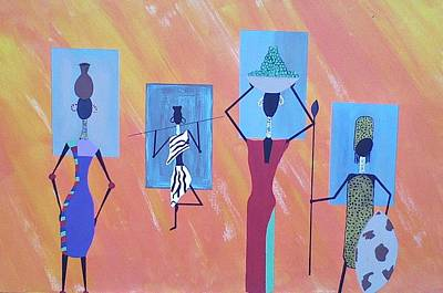 Painting - Women Of Color by Lew Griffin