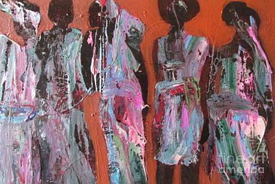 Women Of Dodoma Art Print by Omar Hafidi