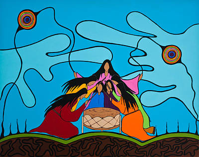 First Tribes Painting - Women Of The Shore by Krystle Retieffe