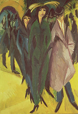 Women On The Street Art Print by Ernst Ludwig Kirchner